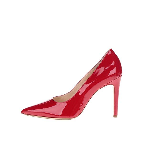 Pantofi roșii din piele lăcuită Högl
