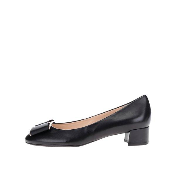 Pantofi negri din piele Högl cu fundă de la Högl in categoria pantofi cu toc