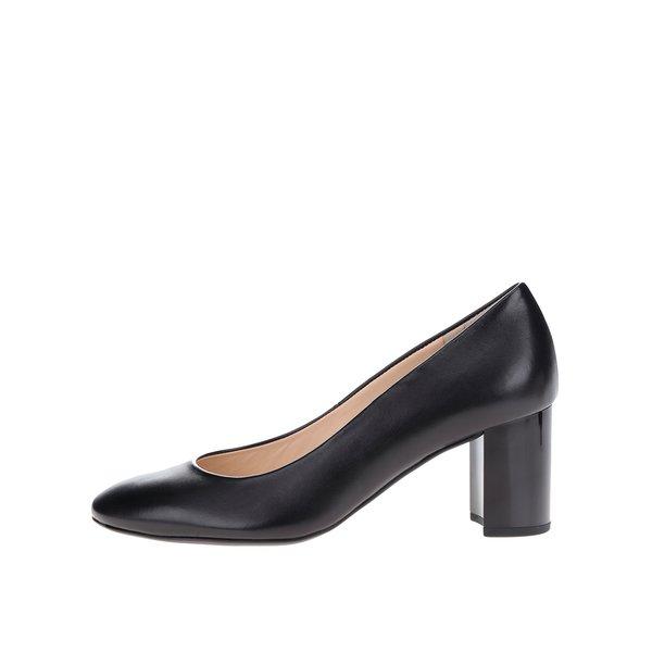Pantofi negri din piele Högl toc masiv de la Högl in categoria pantofi cu toc