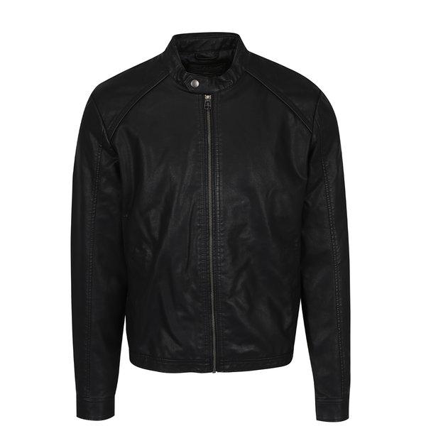 Jachetă neagră biker Jack & Jones Originals