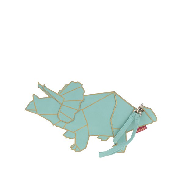 Geantă turcoaz Disaster Origami sub formă de dinozaur de la Disaster in categoria genți plic