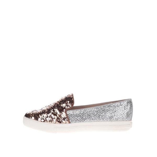 Pantofi slip-on auriu cu argintiu Miss KG Lara