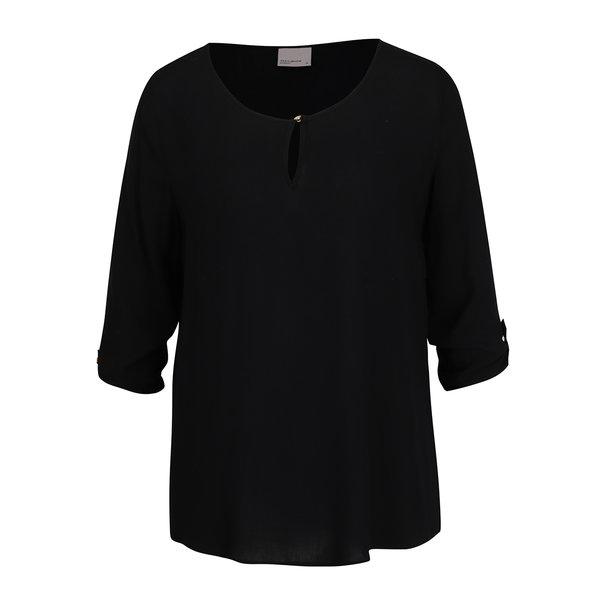 Bluză neagră cu mâneci 3/4 VERO MODA Buci