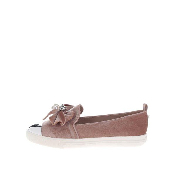 Pantofi loafer roz prăfuit cu mărgele Miss KG Lottie