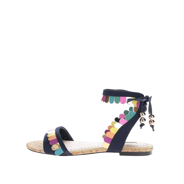 Sandale bleumarin cu aplicații multicolore Miss KG Raphy
