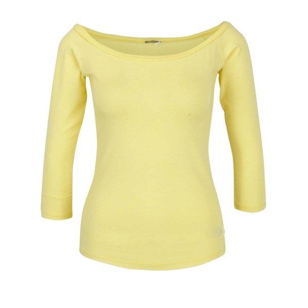 Bluză galbenă cu decolteu bărcuță ZOOT