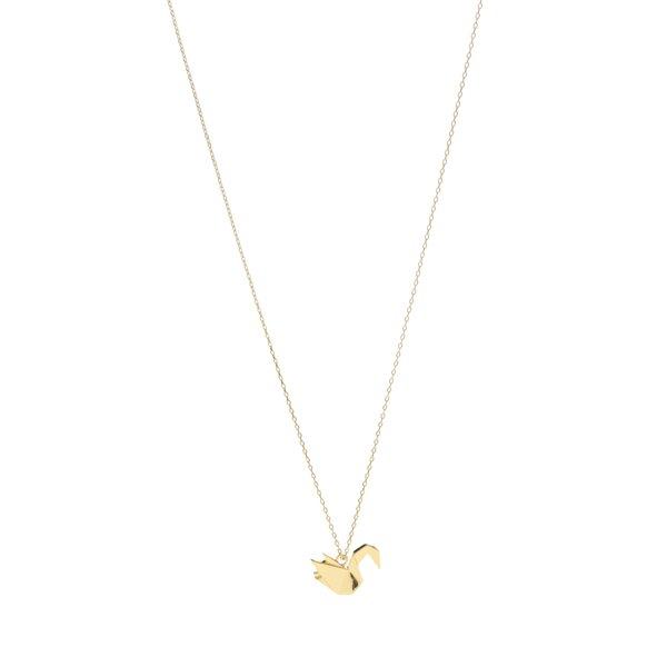 Colier auriu cu pandativ pasăre Pieces Adel de la Pieces in categoria Ceasuri și bijuterii