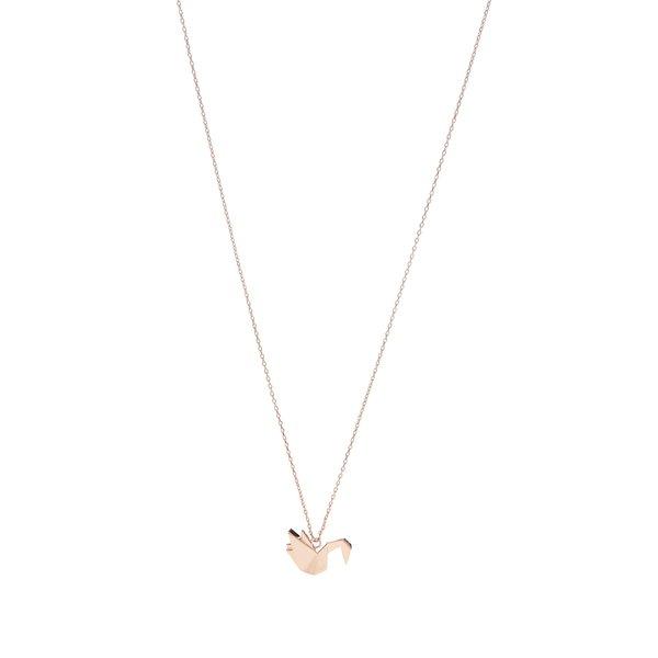 Colier auriu rose cu pandantiv pasăre Pieces Adel de la Pieces in categoria Ceasuri și bijuterii