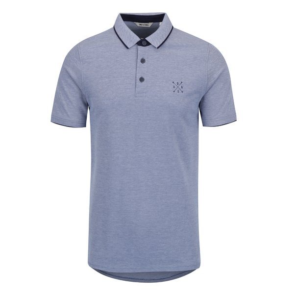 Tricou polo bleu melanj - ONLY & SONS Stan