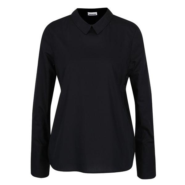 Bluză - cămașă bleumarin cu volane decorative Noisy May Conansa