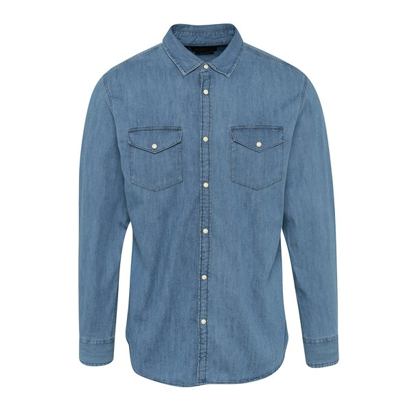 Cămșă albastru deschis slim fit din denim Jack & Jones New One de la Jack & Jones in categoria Cămăși