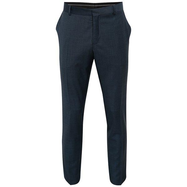 Pantaloni bleumarin de costum din lână Selected Homme Done