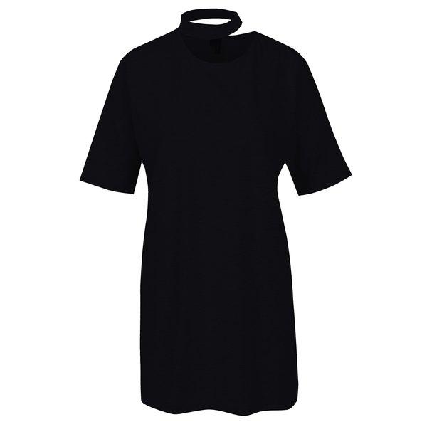 Tricou negru oversized cu choker – VERO MODA Jelica