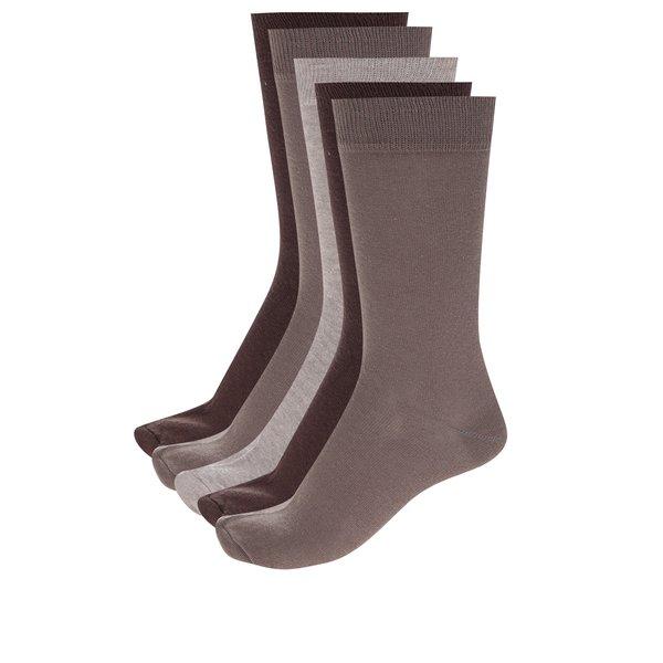 Set de 5 perechi de șosete bej pentru bărbați - M&Co