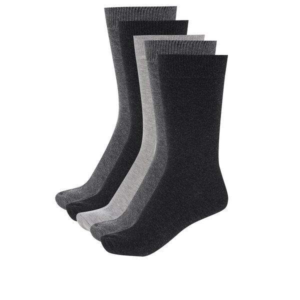 Set de 5 perechi de șosete gri pentru bărbați - M&Co