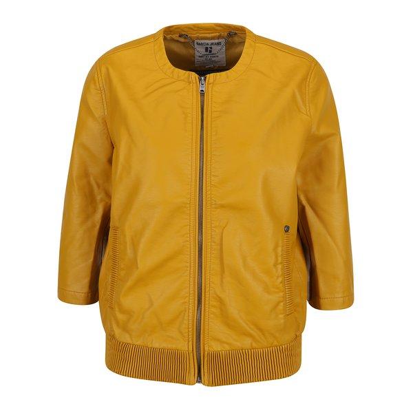 Geacă galben muștar din piele sintetică Garcia Jeans de la Garcia Jeans in categoria Geci, jachete și sacouri