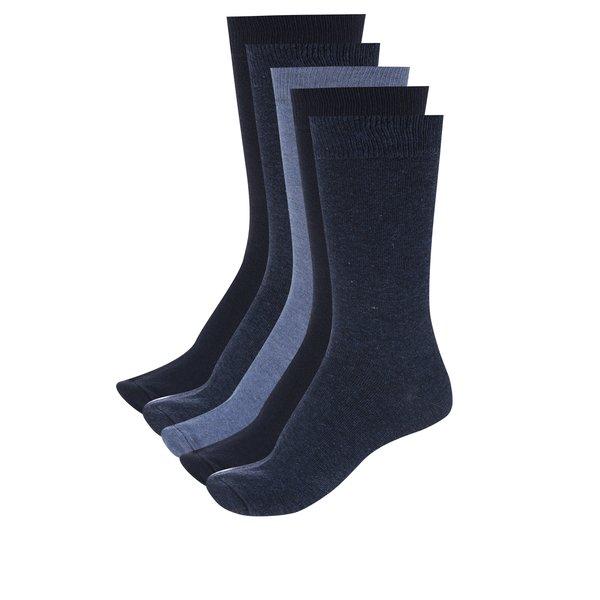 Set de 5 perechi de șosete model uni pentru bărbați – M&Co de la M&Co in categoria BĂRBAȚI
