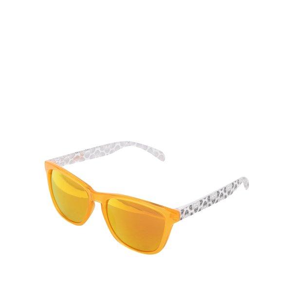Ochelari de soare unisex cu lentile polarizate oranj - Emoji Alien