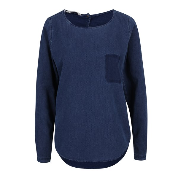 Bluză albastră de damă din denim Garcia Jeans de la Garcia Jeans in categoria bluze