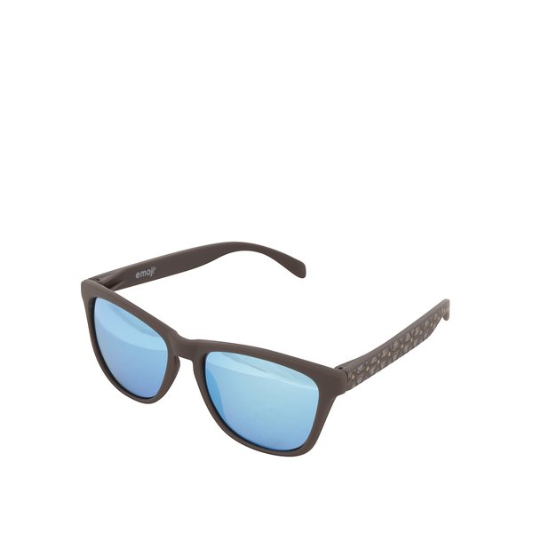 Ochelari de soare unisex maro cu lentile polarizate albastre – Emoji Poop de la Emoji in categoria Accesorii