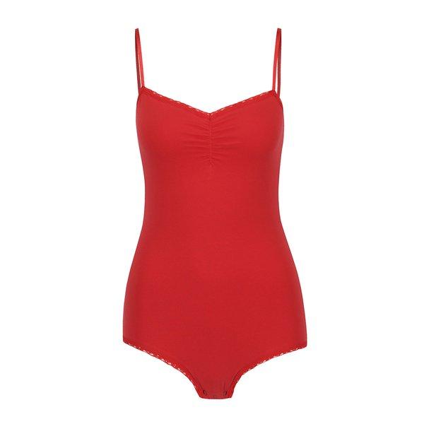 Body roșu cu bretele subțiri Blutsgeschwister de la Blutsgeschwister in categoria Topuri, tricouri, body-uri