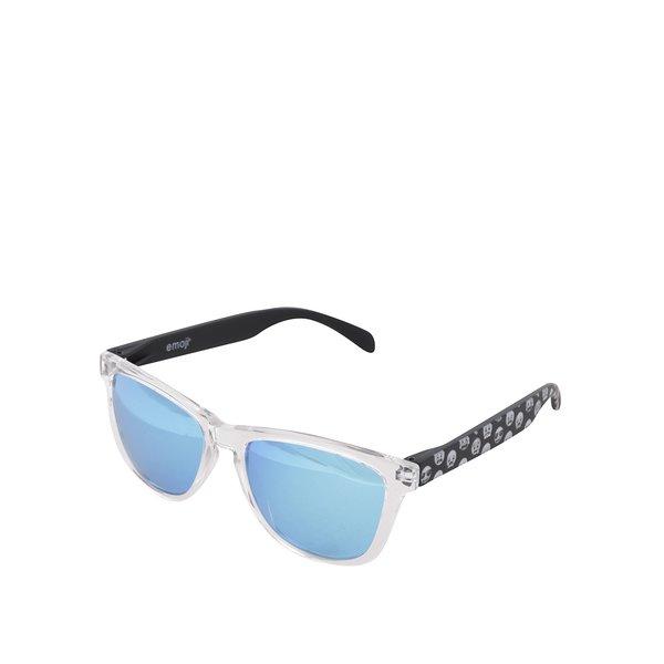 Ochelari de soare unisex ramă transparentă și lentile polarizate albastre – Emoji Smiles de la Emoji in categoria Accesorii
