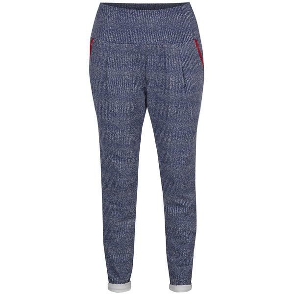 Pantaloni sport albaștri cu talie înaltă Blutsgeschwister