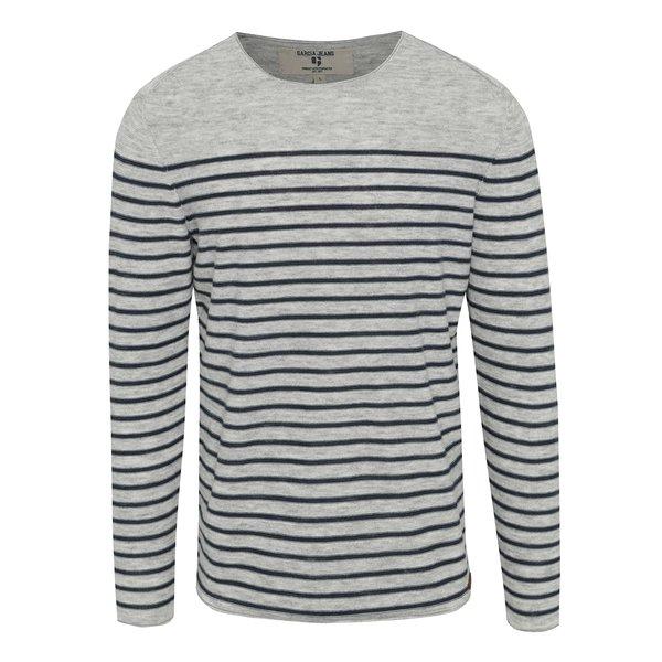 Bluză gri&bleumarin cu dungi Garcia Jeans pentru bărbați de la Garcia Jeans in categoria Pulovere și hanorace