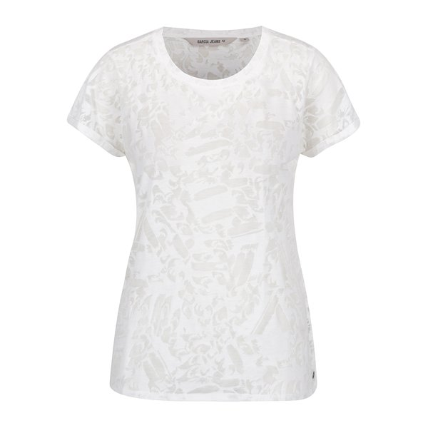Tricou alb fildeș de damă cu model transparent Garcia Jeans de la Garcia Jeans in categoria tricouri