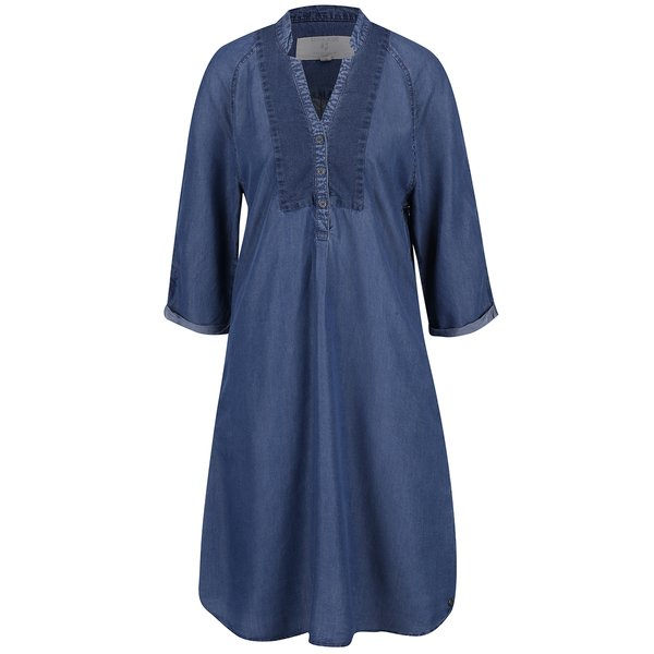 Rochie tunică albastră din denim cu mâneci 3/4 Garcia Jeans