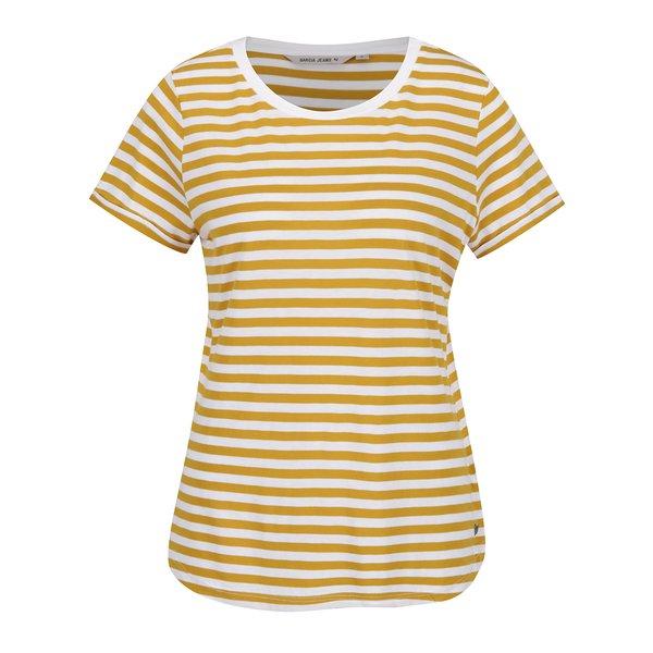 Tricou alb fildeș&galben de damă cu dungi Garcia Jeans de la Garcia Jeans in categoria tricouri