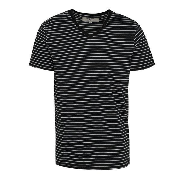 Tricou bleumarin cu dungi albe pentru bărbați Garcia Jeans Marco de la Garcia Jeans in categoria tricouri