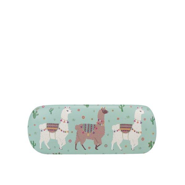 Etui verde cu print - Sass & Belle Lima Llama