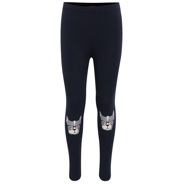 Colanți bleumarin cu print funny pentru fete Tom Joule de la Tom Joule in categoria Pantaloni, pantaloni scurți, colanți