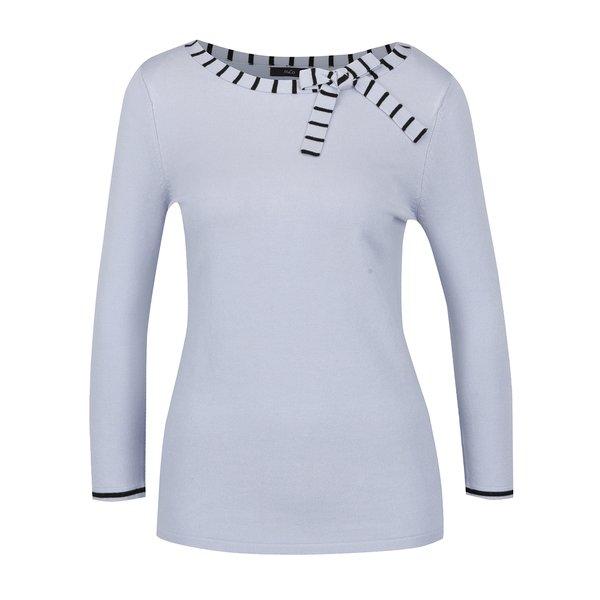 Pulover bleu din tricot cu funda – M&Co