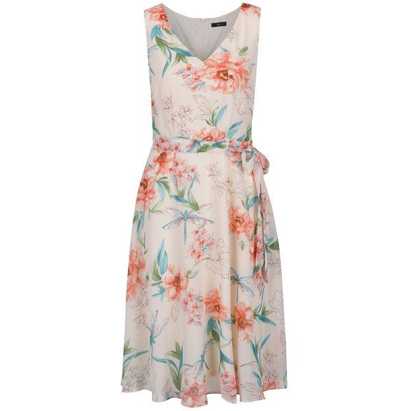 Rochie roz pal cu model floral și cordon în talie – M&Co de la M&Co in categoria rochii de vară și de plajă