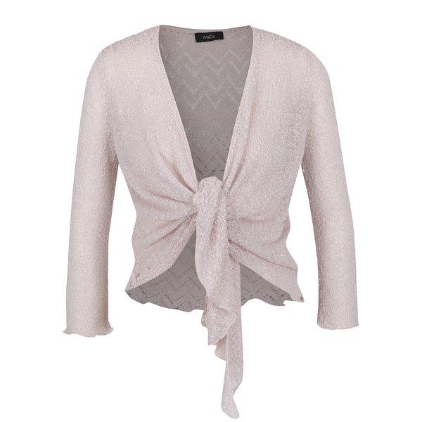 Bolero roz pal cu detalii argintii și decupaje – M&Co de la M&Co in categoria Pulovere și hanorace