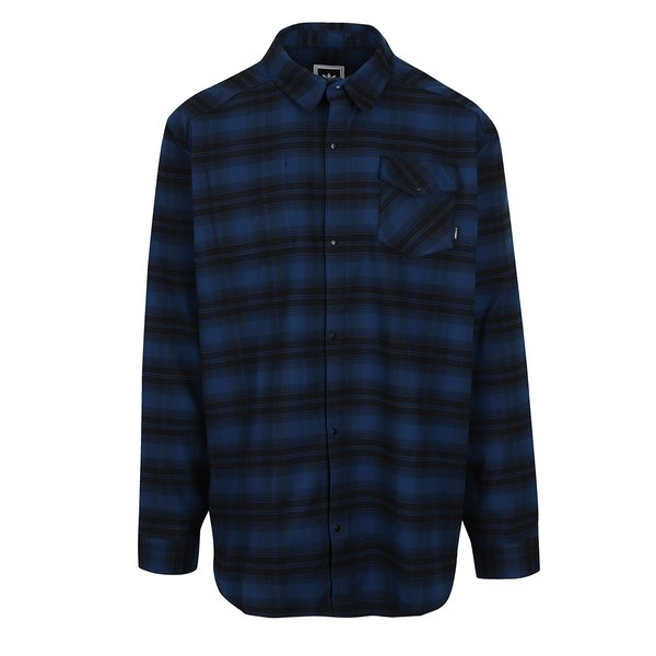 Camsa in carouri negru/ albastru adidas Originals