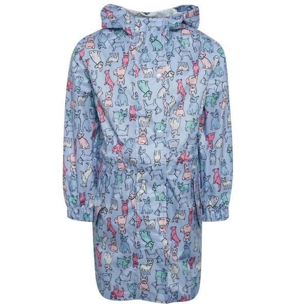 Jachetă parka albastră impermeabiă cu print pentru fete Tom Joule de la Tom Joule in categoria Geci, jachete, paltoane