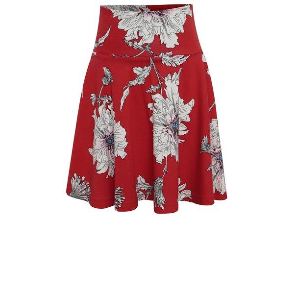 Fustă cloș roșie cu print floral Tom Joule de la Tom Joule in categoria Rochii, fuste