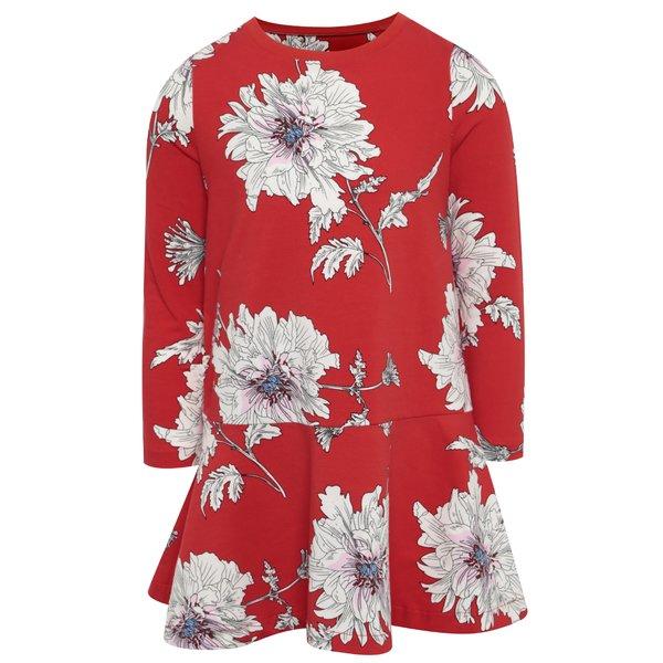 Rochie roșie cu print floral și pliseuri Tom Joule de la Tom Joule in categoria Rochii, fuste
