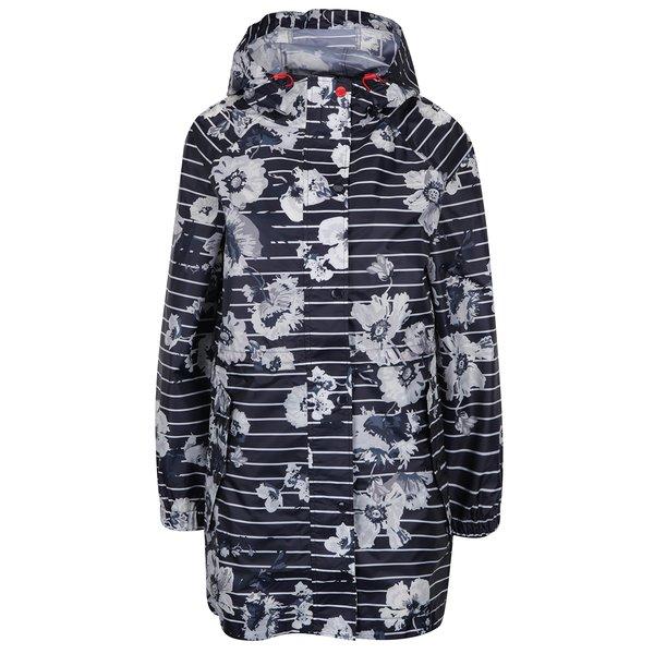 Jachetă bleumarin impermeabilă cu flori și dungi Tom Joule de la Tom Joule in categoria Geci, jachete și sacouri