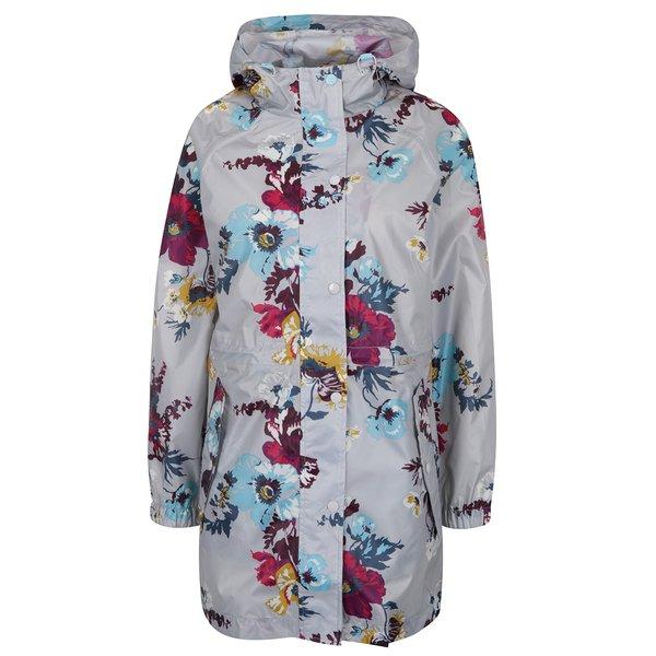 Jachetă impermeabilă gri cu print floral Tom Joule