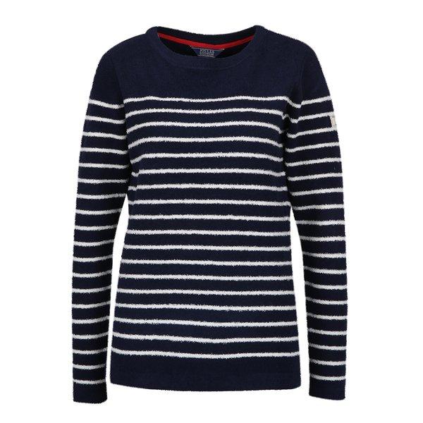 Bluză din fleece bleumarin cu dungi crem Tom Joule