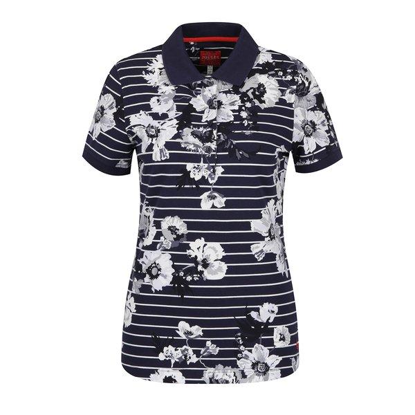 Tricou polo bleumarin cu dungi și print floral Tom Joule de la Tom Joule in categoria tricouri