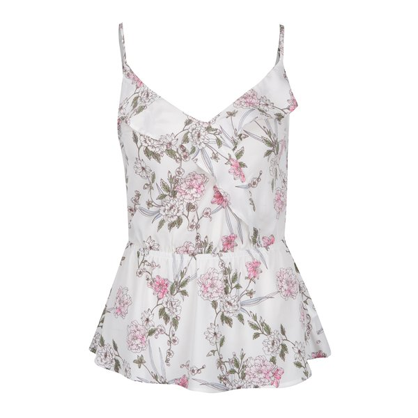 Top alb cu model floral TALLY WEiJL de la TALLY WEiJL in categoria maiouri