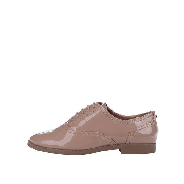 Pantofi oxford bej cu aspect lăcuit - ONLY Tango