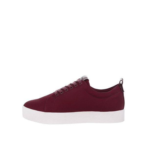 Teniși roșu bordo cu platformă – ONLY Selma de la ONLY in categoria pantofi sport și teniși