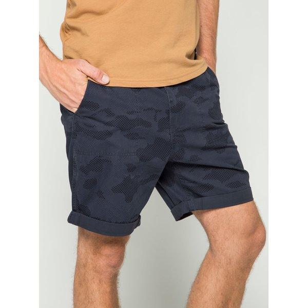 Pantaloni scurți albastru închis Burton Menswear London cu model camuflaj