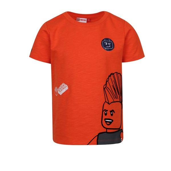 Tricou portocaliu cu print pentru băieți Lego Wear Teo de la Lego Wear in categoria Tricouri, camasi